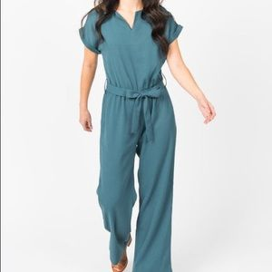 Suit Yourself Jumpsuit Emerald